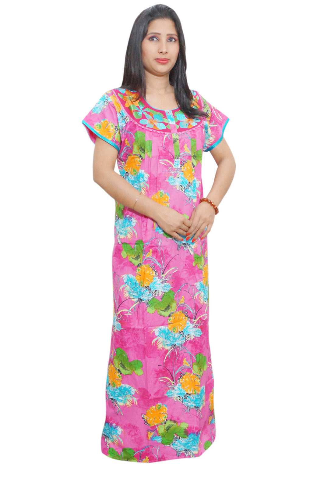 WOMEN\'S COTTON NIGHT GOWN MAXI DRESS – Global Trendzs