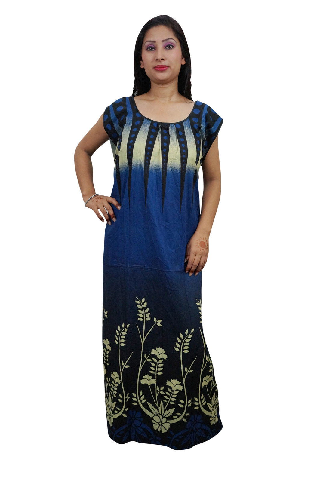 3fee9a98a2 Enjoy your sleep time with this printed night wear gown for women from  Indiatrendzs. Made from Cotton