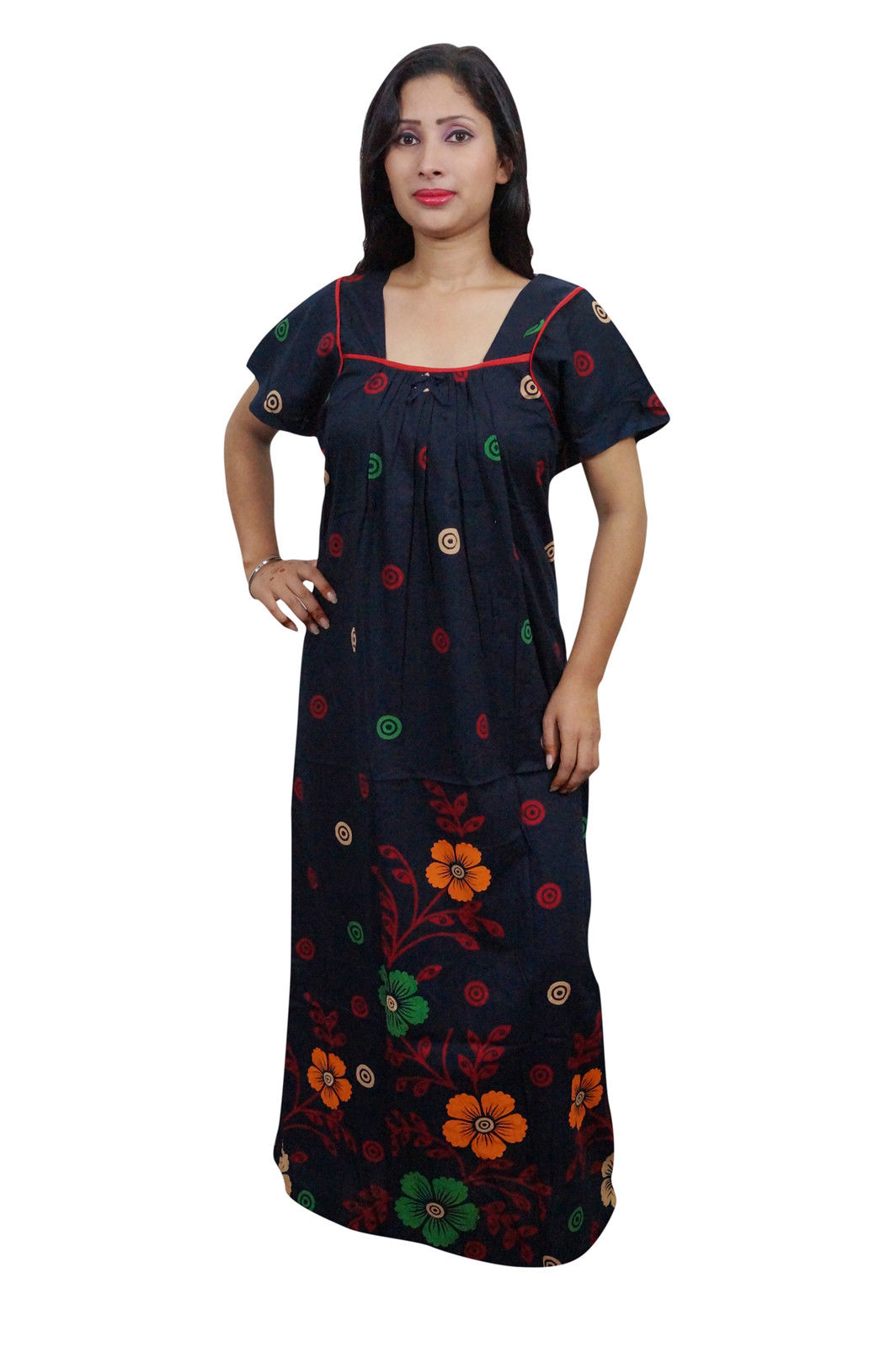 d9ada91e8e Enjoy your sleep time with this printed night wear gown for women from  Indiatrendzs. Made from Cotton