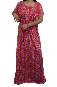 Enjoy your sleep time with this printed night wear gown for women from  Indiatrendzs. Made from Hosiery 501bd1b0d