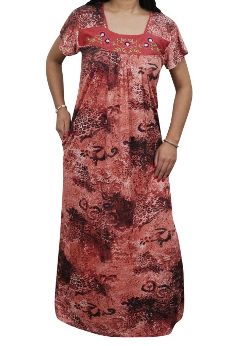Enjoy your sleep time with this printed half Sleeve night wear gown for  women from Indiatrendzs. Made from Hosiery c999548ef