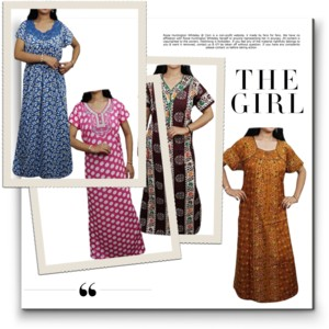 Enjoy your sleep time with this printed half sleeve night wear gown for  women from Indiatrendzs. This nighty or night dress as we may call it is  easy on the ... 9250d85b8