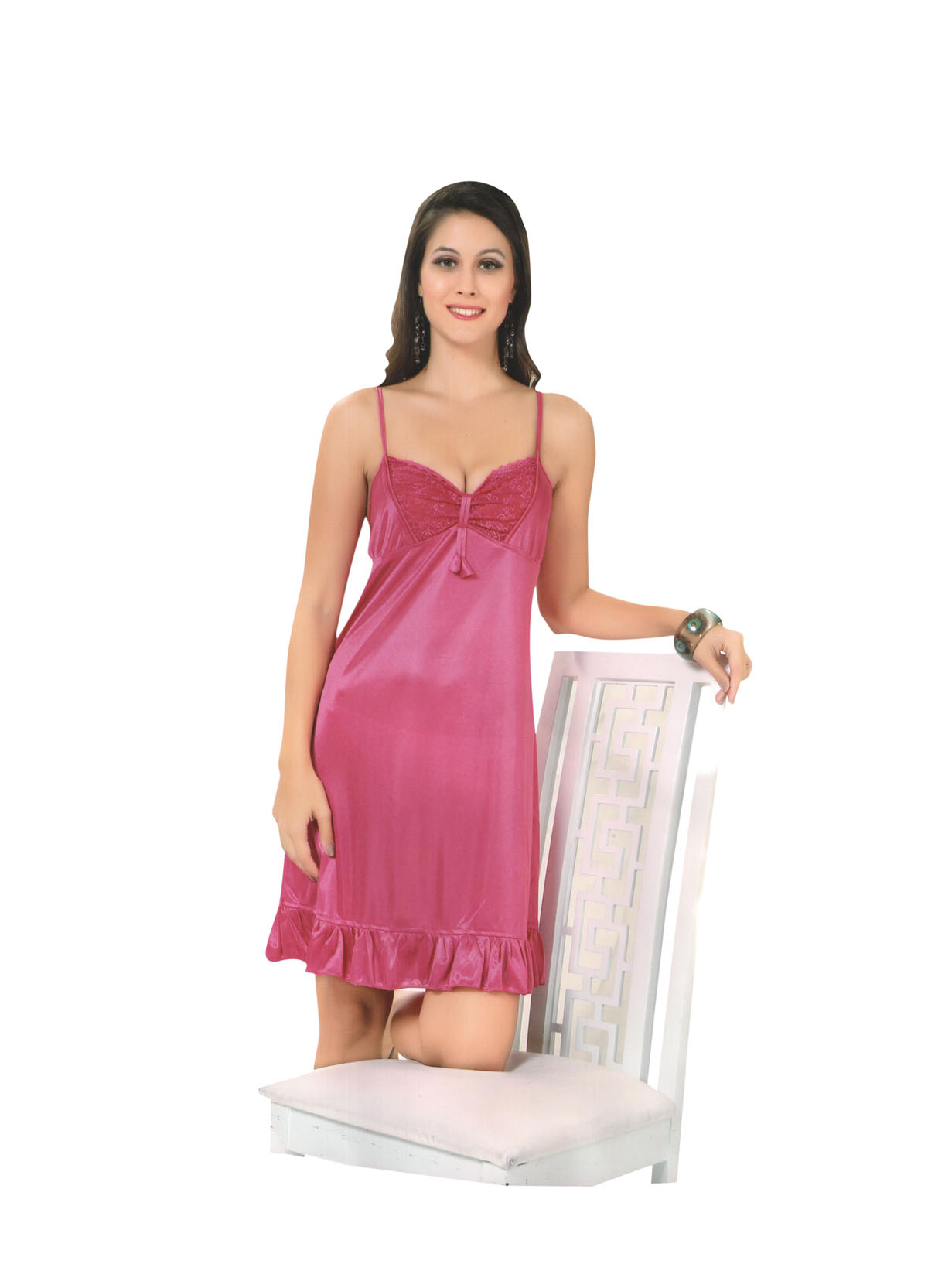 30f345b714 ... by wearing this HONEYMOON nightwear for women from Indiatrendzs. Made  from a Silk Satin Fabric