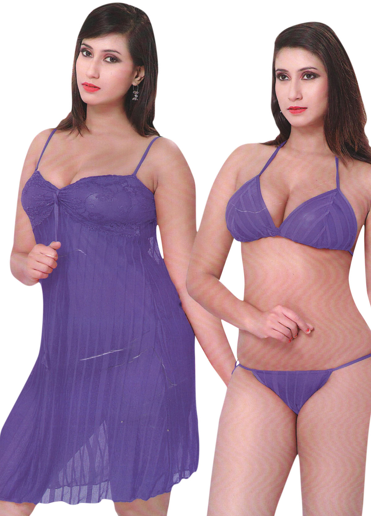 1d2605e0df57 Look good and feel relaxed by wearing this HONEYMOON nightwear for women  from Indiatrendzs. Made from a Silk Satin Fabric, Lace work In Neck Line,  ...