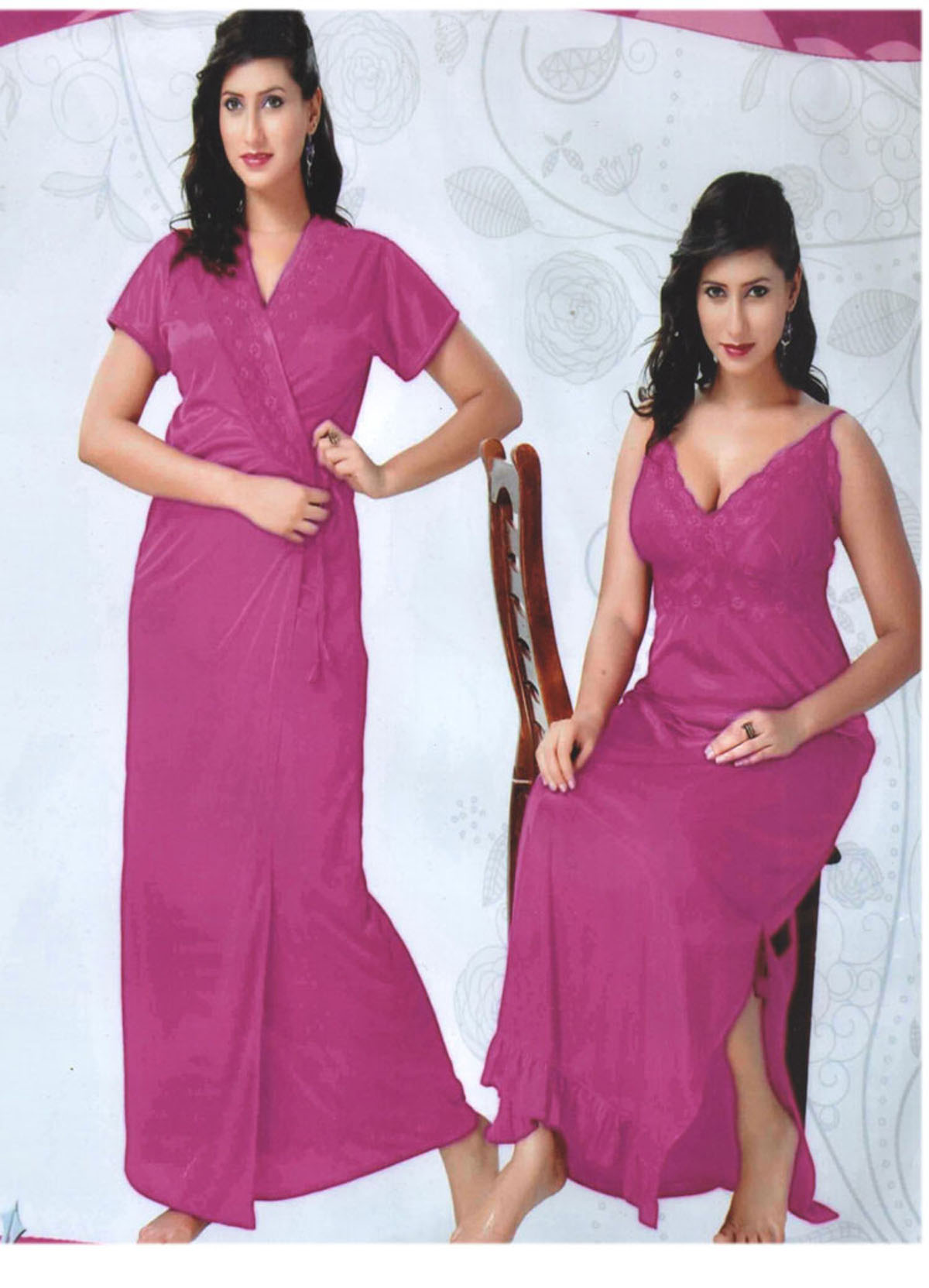 e34db66383 Look good and feel relaxed by wearing this HONEYMOON nightwear for women  from Indiatrendzs. Made from a Silk Satin Fabric
