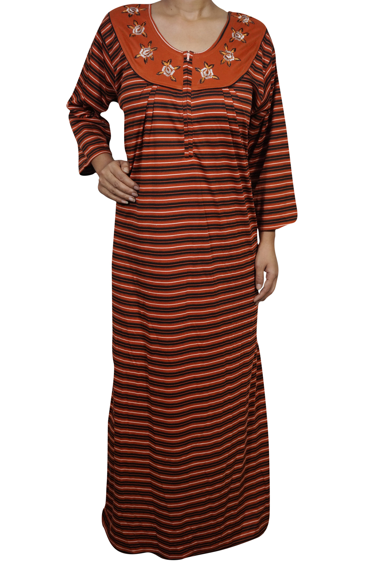 8494250eb Enjoy your sleep time with this Solid winter Full Sleeve night wear gown  for women from Indiatrendzs. Made from WOOLEN