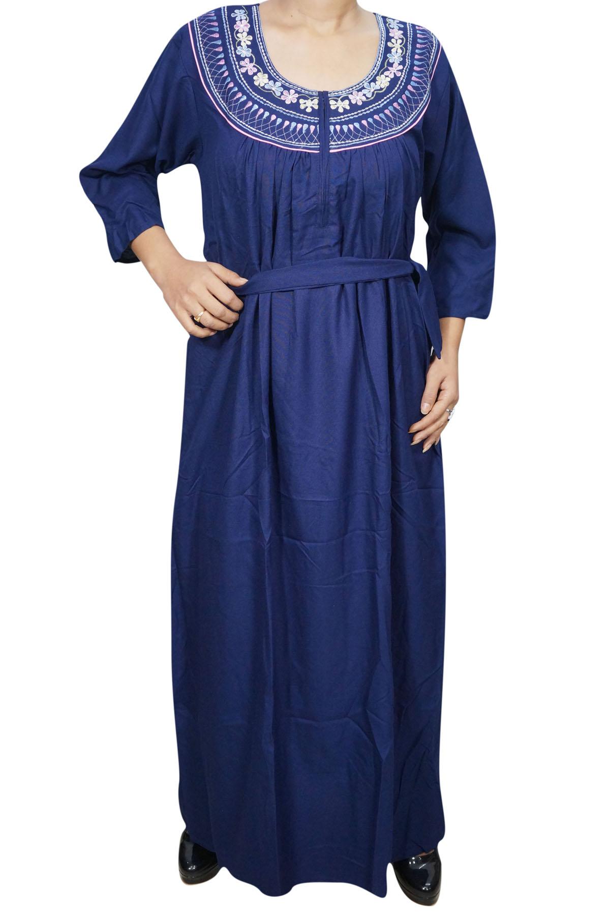 WOMEN COMFY LONG NIGHTY WINTER WARM SLEEPWEAR MAXI NIGHT DRESS ...