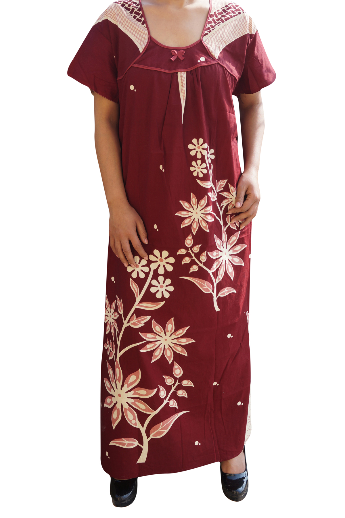 Women / Ladies Sleepwear Cotton Maxi Nighty / Long Night Gowns ...