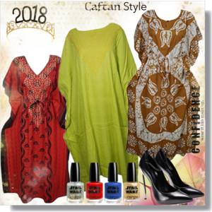 Women Western Wear Kimono Kaftan Dress / Loose Plus Size ...